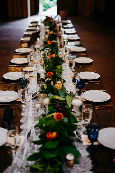 Head Table with summer garden flowers | Tobey Nelson Events | Fireseed Catering | Whidbey Island WA