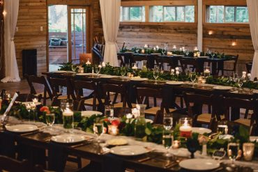 Feasting Tables with summer garden flowers | Tobey Nelson Events | Fireseed Catering | Whidbey Island WA