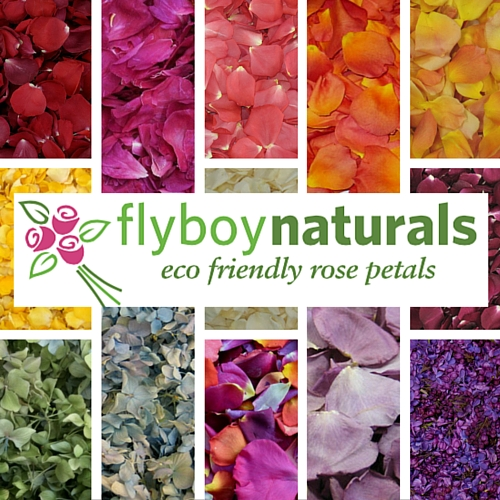 Flyboy naturals preserved rose petals is a sponsor of the whidbey flower workshop
