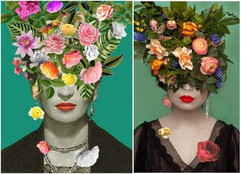 Floral headpiece by Tobey Nelson inspired by Art by Desiree Feldman | photo by Ike & Tash photography