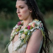 Floral shawl by Tobey Nelson Events | image by Suzanne Rothmeyer Photography
