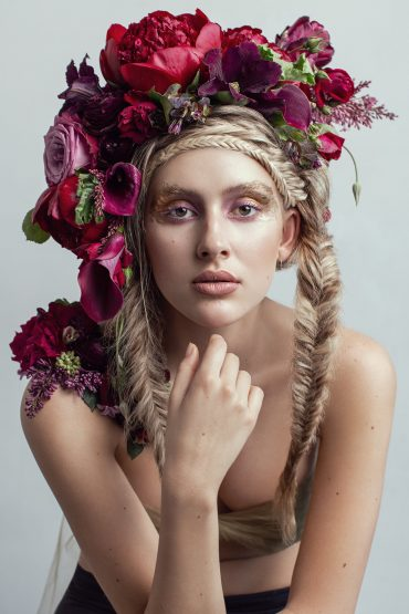 Botanical Couture wearable floral art by Tobey Nelson | image by Shannon Beauclair