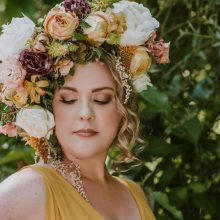 Flower Goddess floral headpiece | Floral Couture by Tobey Nelson Events | image by Suzanne Rothmeyer Photography