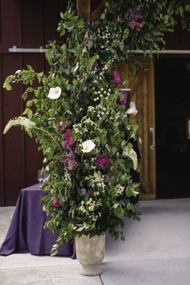 Large scale foam free floral arch flower installation for non-profit event | Tobey Nelson Events