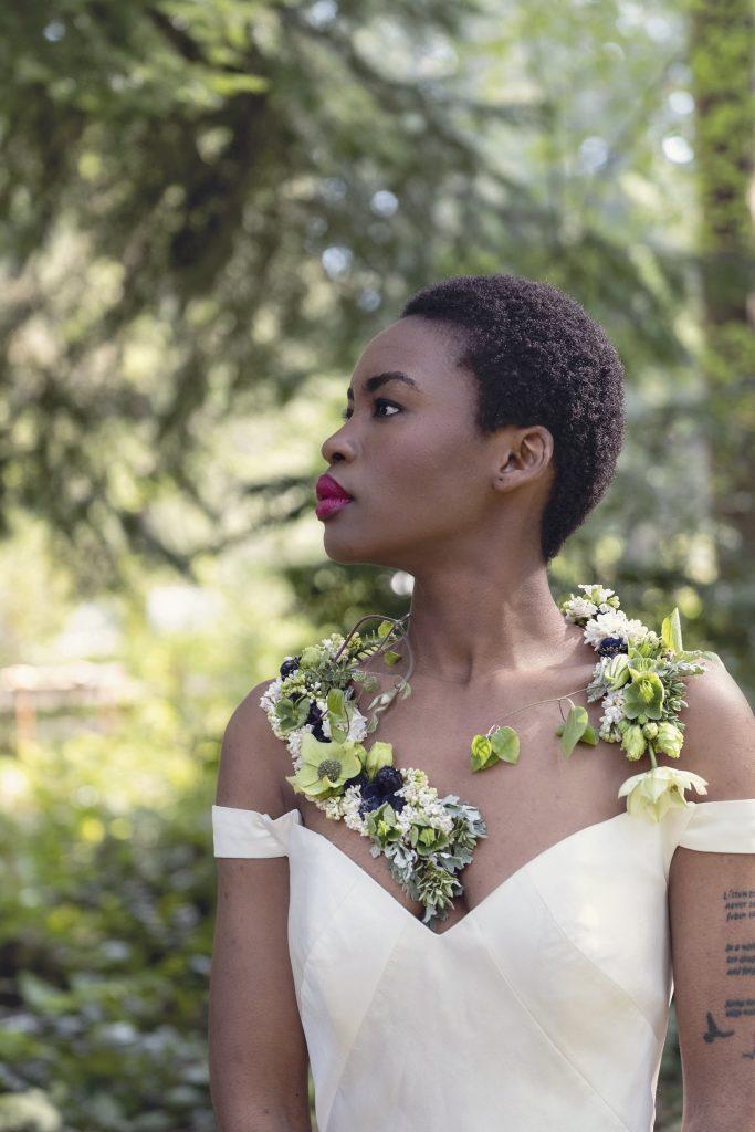 Floral necklace by Debra Prinzing
