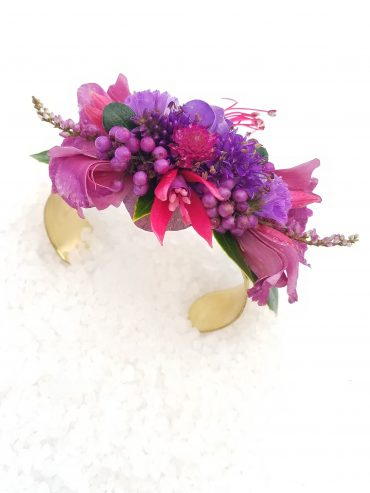 Floral Cuff Bracelet is a lovely corsage option for your prom, homecoming or wedding | made by Tobey Nelson Events