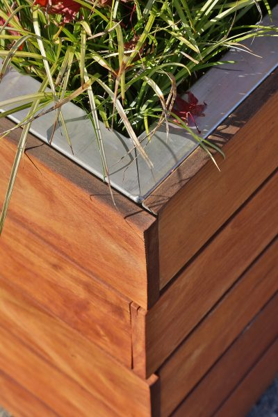 Planter detail by Miller Custom Construction