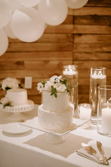 Wedding Cake | White Wedding at Fireseed Catering | wedding flowers by Tobey Nelson Events | image by Kristen Marie Parker