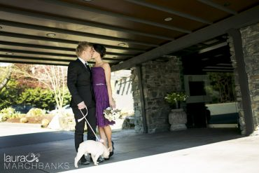 Spring Wedding at Canlis Restaurant in blush, white and black   Flowers by Tobey Nelson   photography by Laura Marchbanks