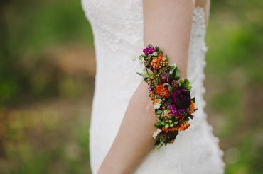 Floral tattoo for Port Townsend bride by Tobey Nelson Events