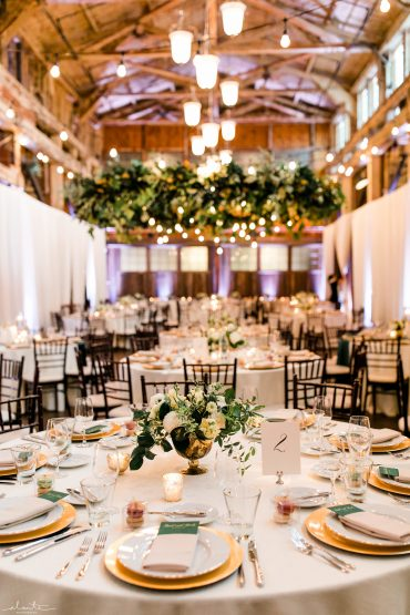 Sodo Park Seattle wedding reception decor by Tobey Nelson Events | image by Alante Photography