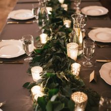botanical runner greenery centerpiece by tobey nelson