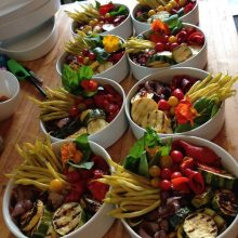 Beautiful veggie bowls by my favorite Whidbey Island caterer