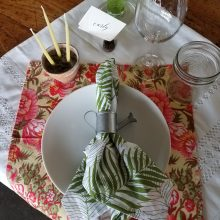 Garden Party tablesetting by Tobey Nelson Events