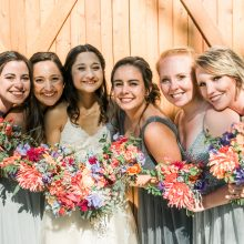 colorful bridesmaid bouquets by Tobey Nelson Events | Photo by John Lao