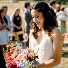 colorful bridal bouquet by Tobey Nelson Events | Photo by John Lao