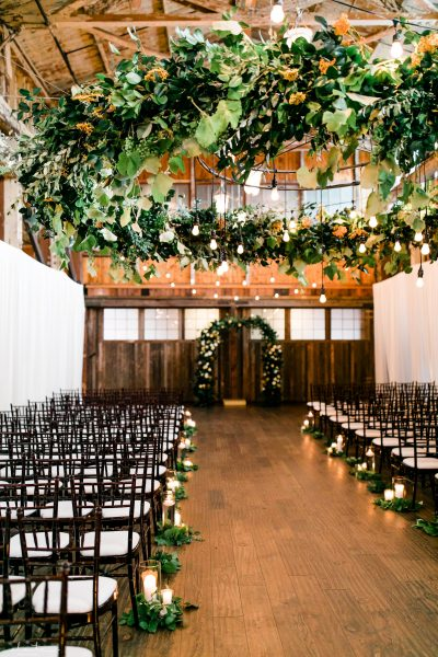 Pacific NW Elegance wedding ceremony | Seattle Wedding at Sodo Park | Floral and Event design by Tobey Nelson | image by Alante Photography