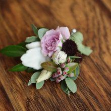 Groom's boutonniere by Whidbey Island Florist Tobey Nelson | image by Stadler Studio