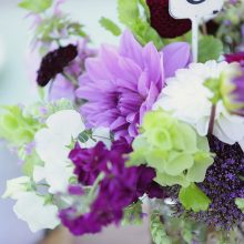 Purple and green wedding flowers by Tobey Nelson Events | Photography by Stadler Studio