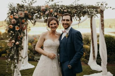 romantic summer wedding at Fireseed Catering on Whidbey Island   image by Jordan Voth Photography