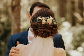 Hair flowers | Whidbey Island wedding flowers by Tobey Nelson Events image by Jordan Voth Photography