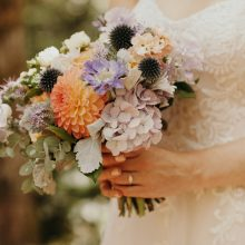 Bridal bouquet | Forest Wedding | Whidbey Island wedding flowers by Tobey Nelson Events image by Jordan Voth Photography