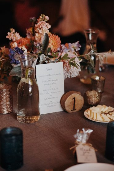 Rustic garden flower centerepiece   Fireseed Catering wedding   Flowers by Tobey Nelson Events   image by Jordan Voth Photography