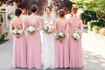 Blush and white summer wedding flowers by Tobey Nelson Events | Lord Hill Farms wedding | Lloyd Photographers