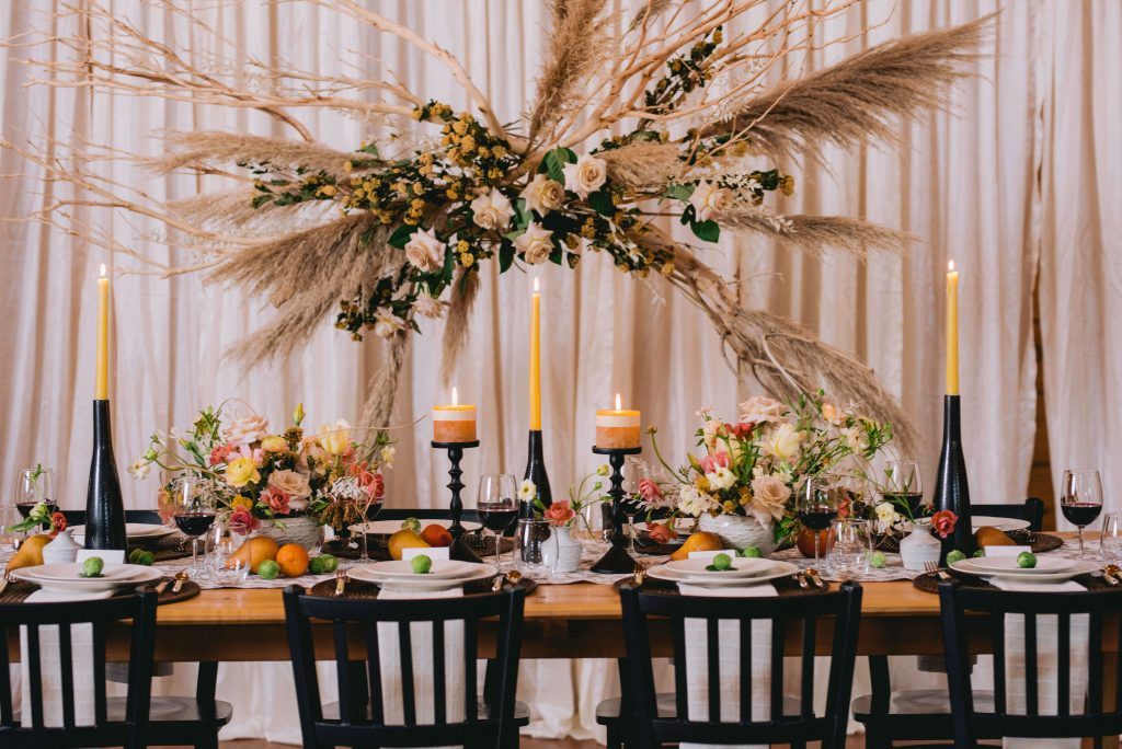 Styled Shoot for Neutrals with Blush & Black Accents inspiration | Tobey Nelson Events + Design | Suzanne Rothmeyer Photography