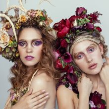 Floral Couture | Floral Headpieces | Floral Art by Tobey Nelson | image by Shannon Beauclair