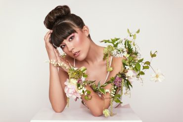 Floral tattoo for the arm, a botanical couture creation by Tobey Nelson