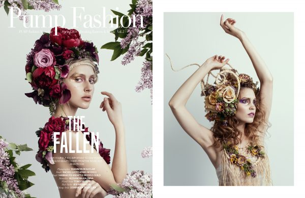 The floral couture work of Tobey Nelson was featured in Pump Magazine