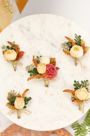 Wedding party boutonnieres | Kirkland Wedding | flowers by Tobey Nelson | image by Stormy Peterson Photography