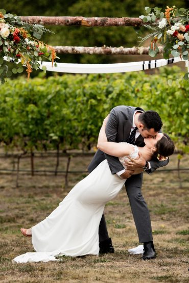 Dancing Fish Vineyards Whidbey Island wedding planning and wedding flowers by Tobey Nelson Events | photo by Jenny Jimenez