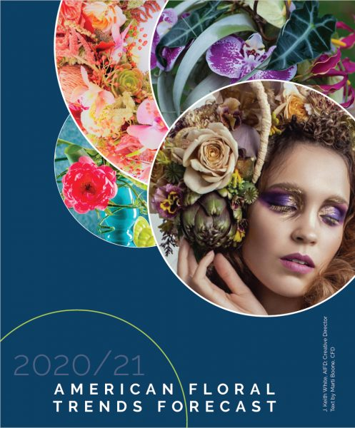 American Floral Trends Forecast features floral design by Tobey Nelson on the cover