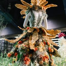 Tobey Nelson's Floral Couture entry for Fleurs de Villes at the Northwest Flower & Garden Show