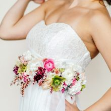Floral belt | wedding dress inspiration | floral couture by Tobey Nelson | image by Aly Willis Photography