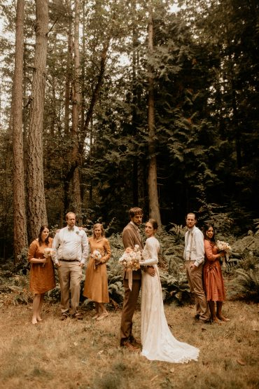 Earthy Guemes Island Elopement | San Juan Islands wedding flowers by Tobey Nelson | image by Breeanna Lasher