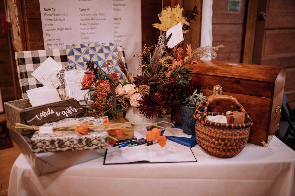 Laden wedding gift table